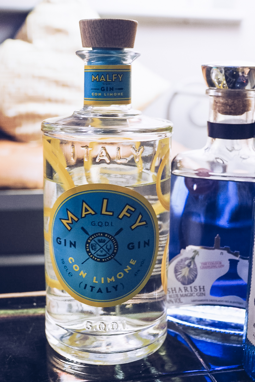 Bottle of malfy gin