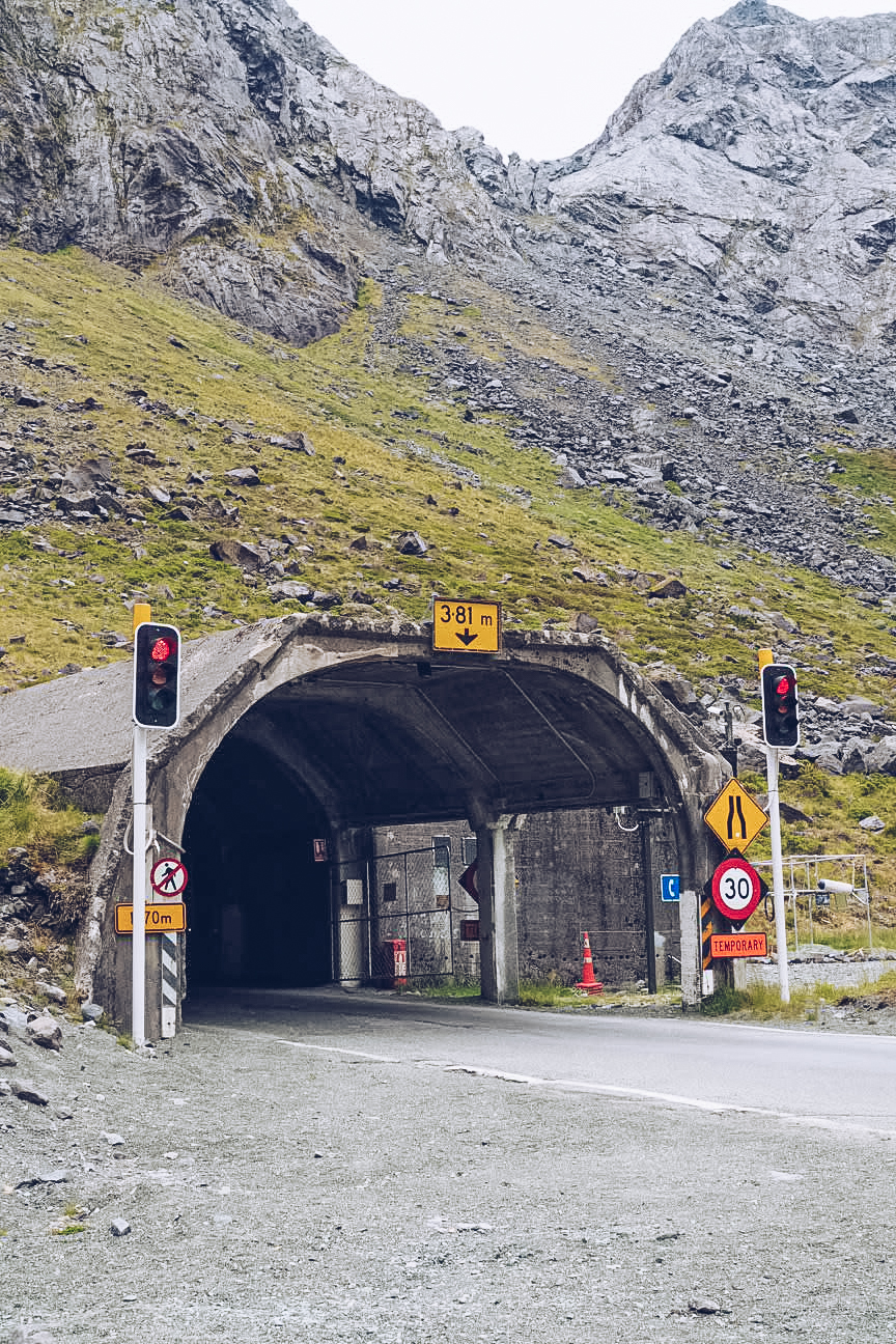 Homer Tunnel entrance