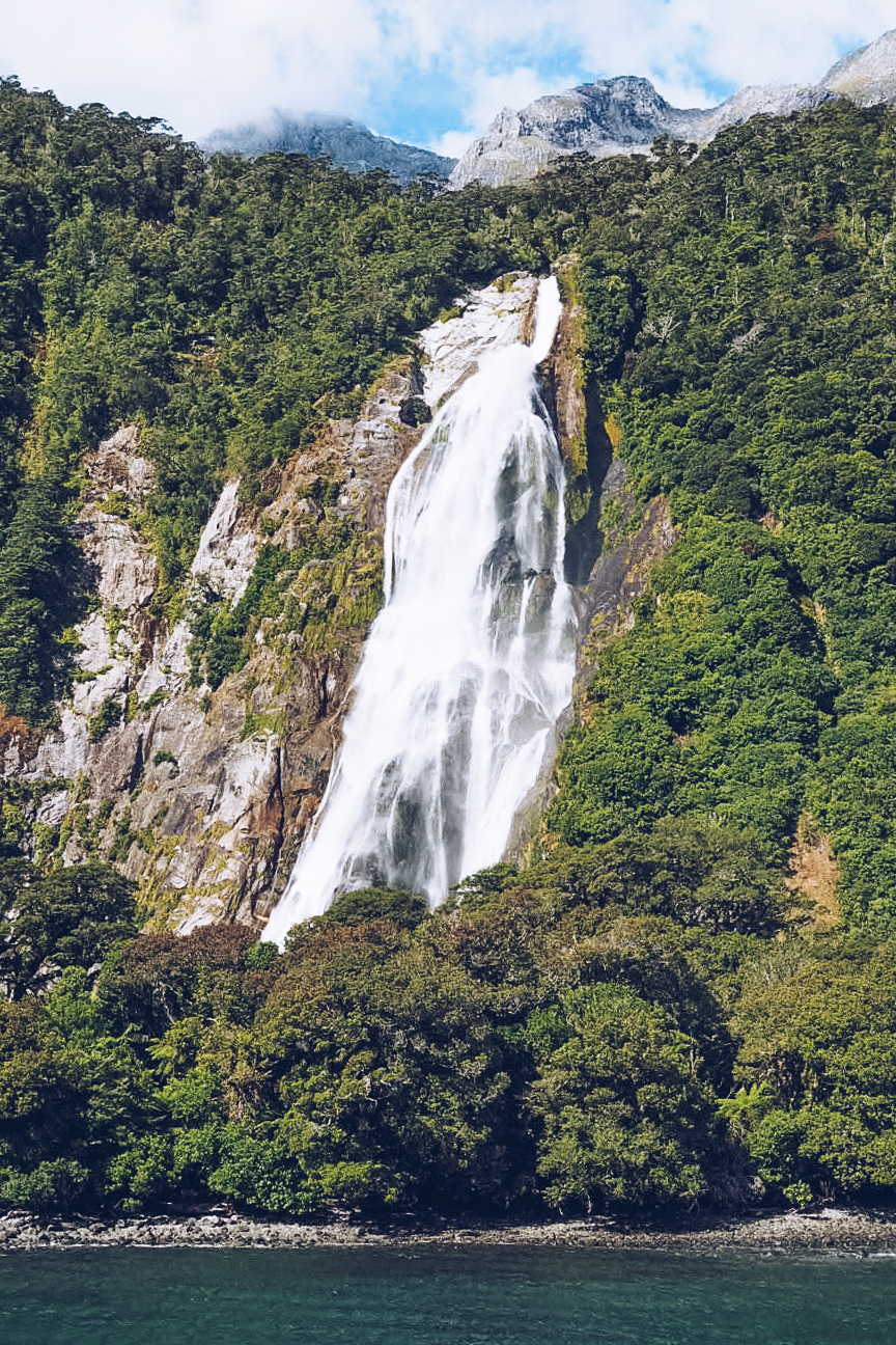 Waterfalls in Milford Sounds