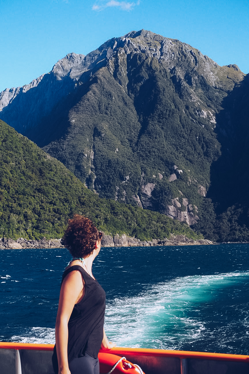 Ferry through Milford Sound