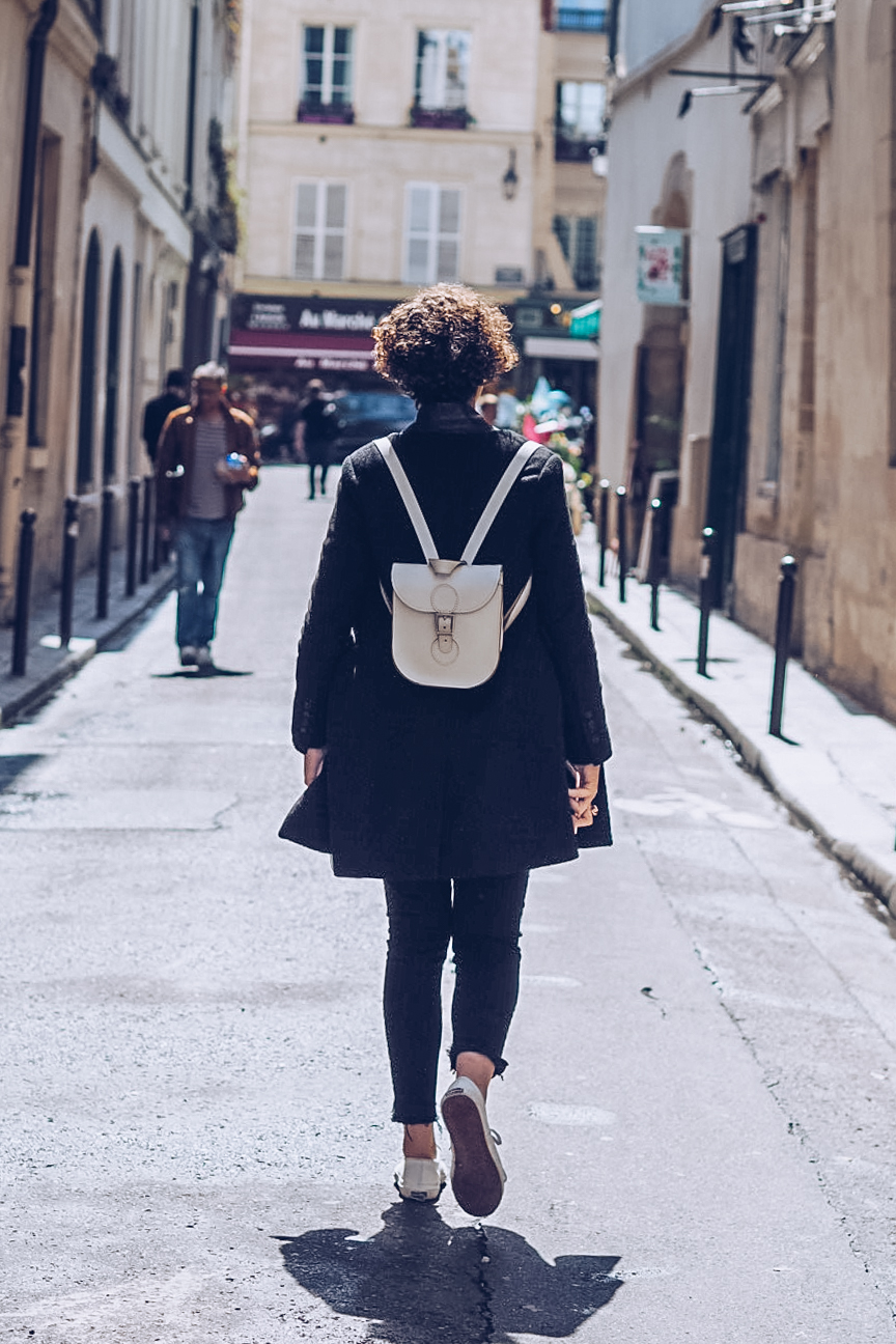 Walking through Le Marais in Paris
