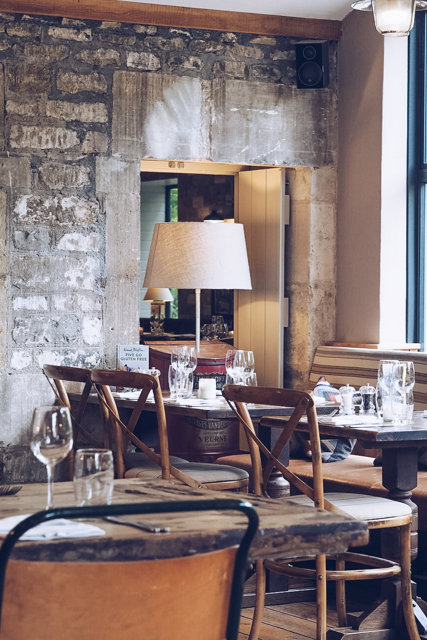 Dining room at Timbrell's Yard hotel