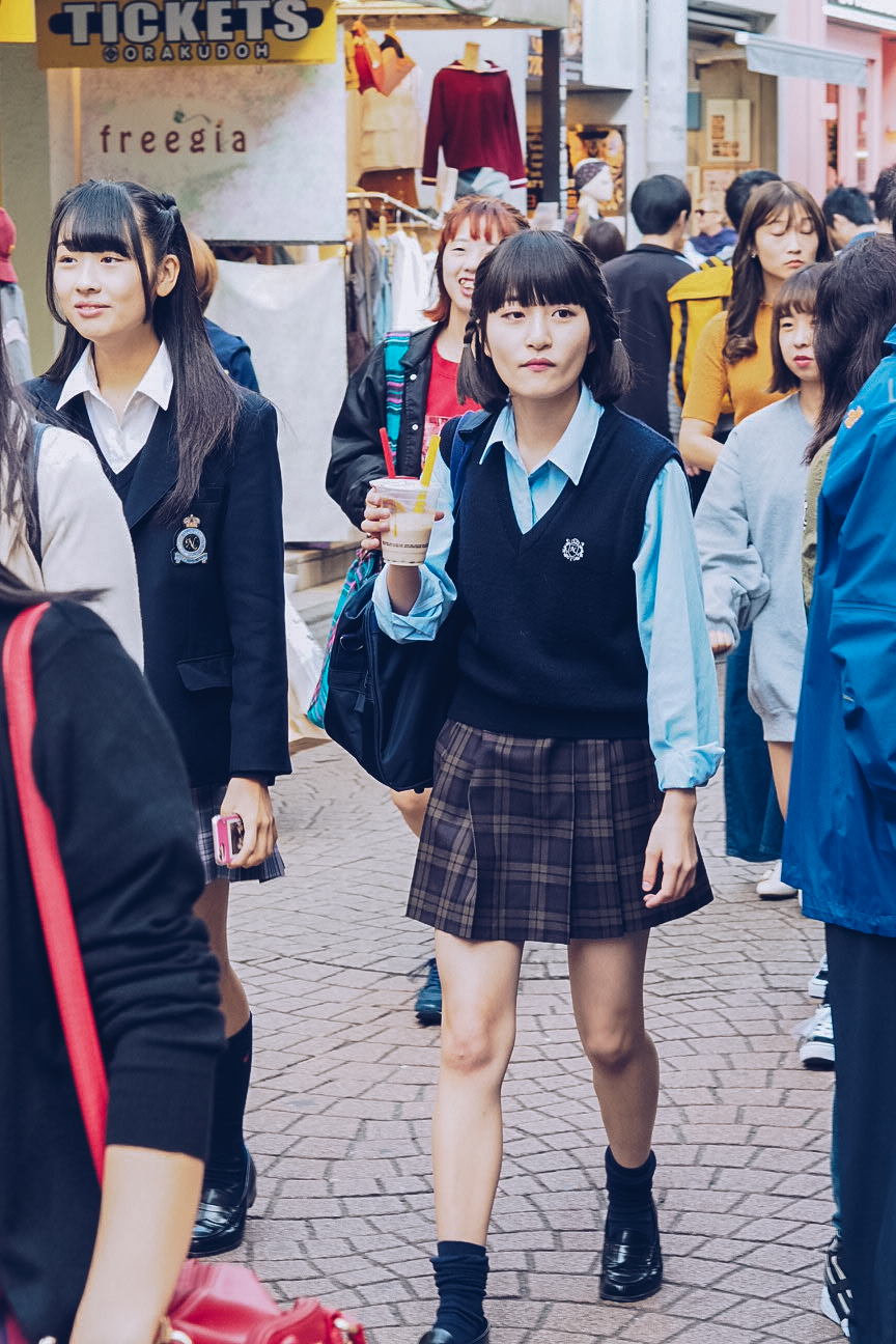 Harajuku schoolgirl fashion