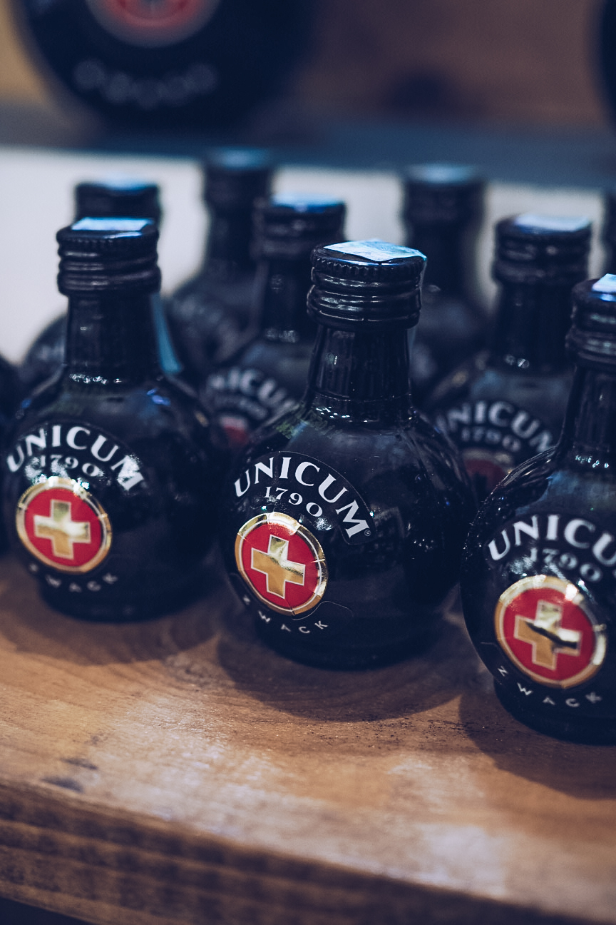 small bottles of unicum