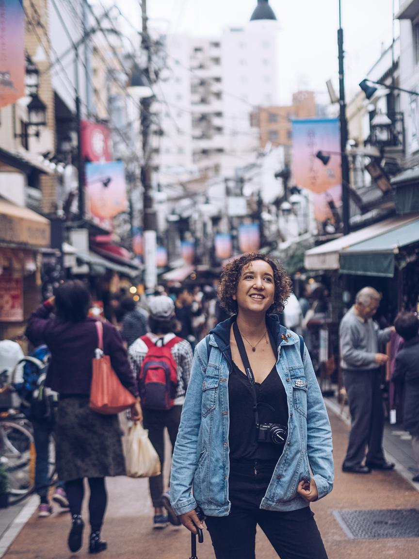 women in yanaka ginza, tokyo