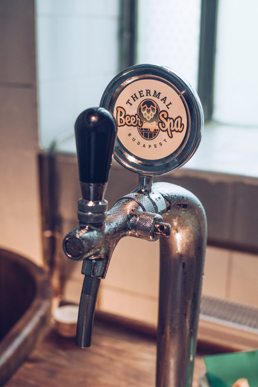 beer pump in beer spa, budapest