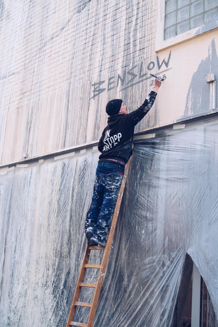 ben slow street artist