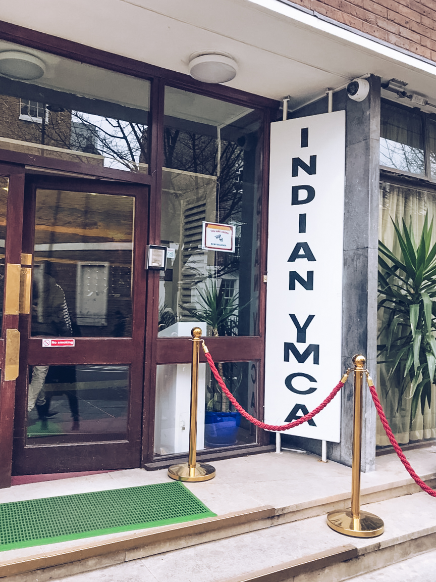 entrance to indian ymca london