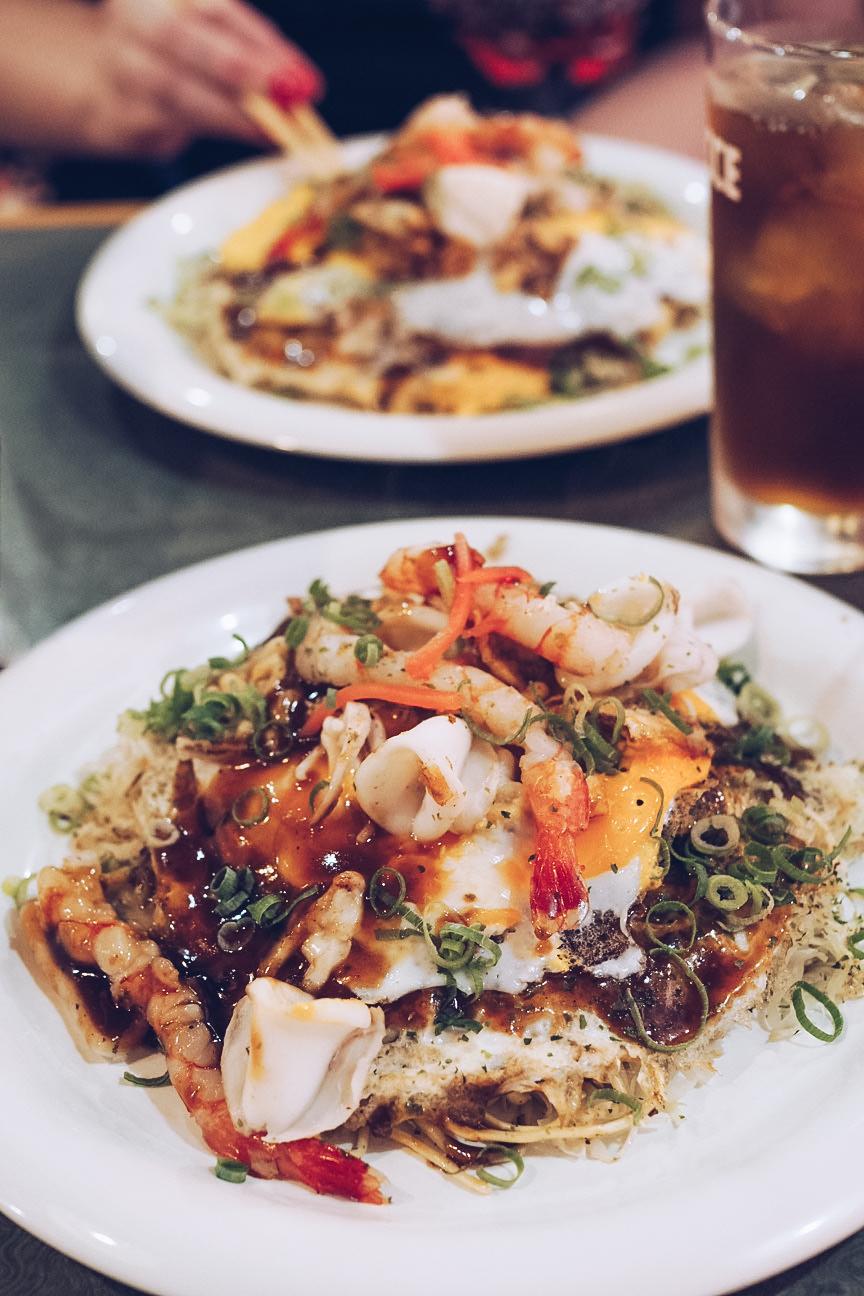 okonomiyaki with seafood