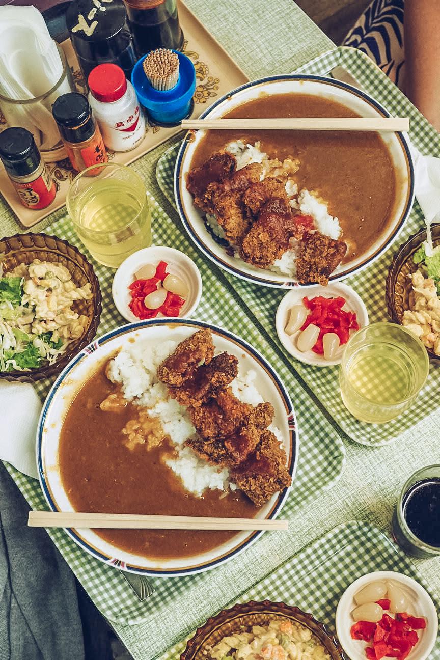 trays of katsu curry