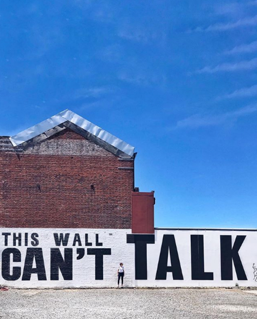 this wall can't talk christchurch street art