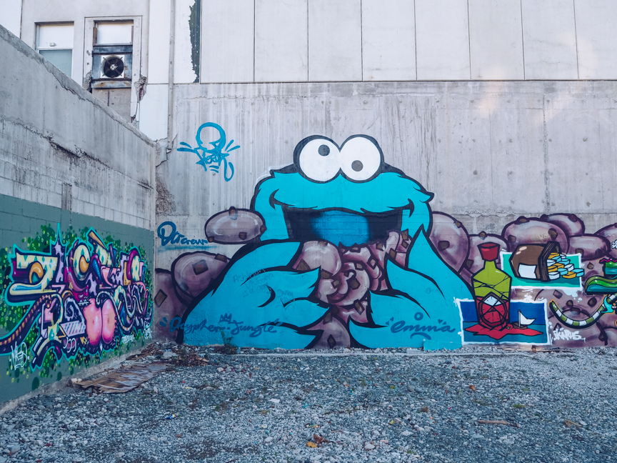 cookie monster street art