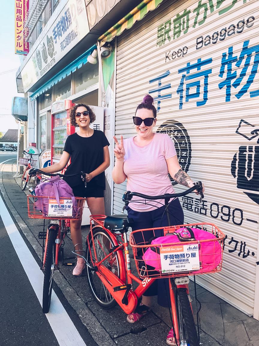 hiring bikes in kawaguchiko