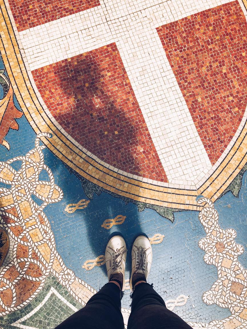 mosaics in galleria vittorio emanuele ii