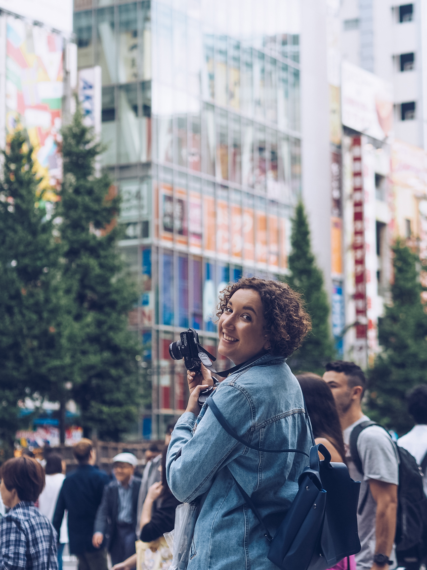 Travel blogger in Japan