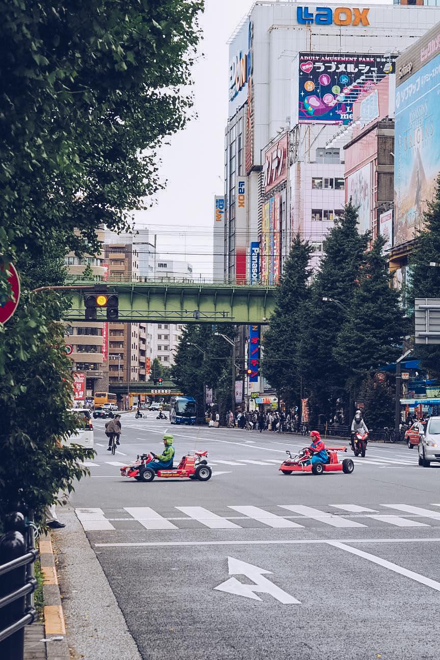 Real life mario karts in tokyo