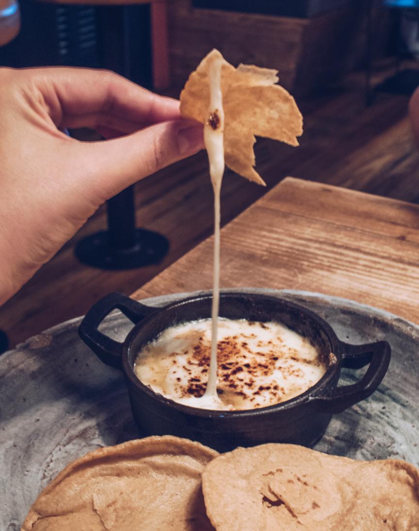 queso fundido at breddos tacos
