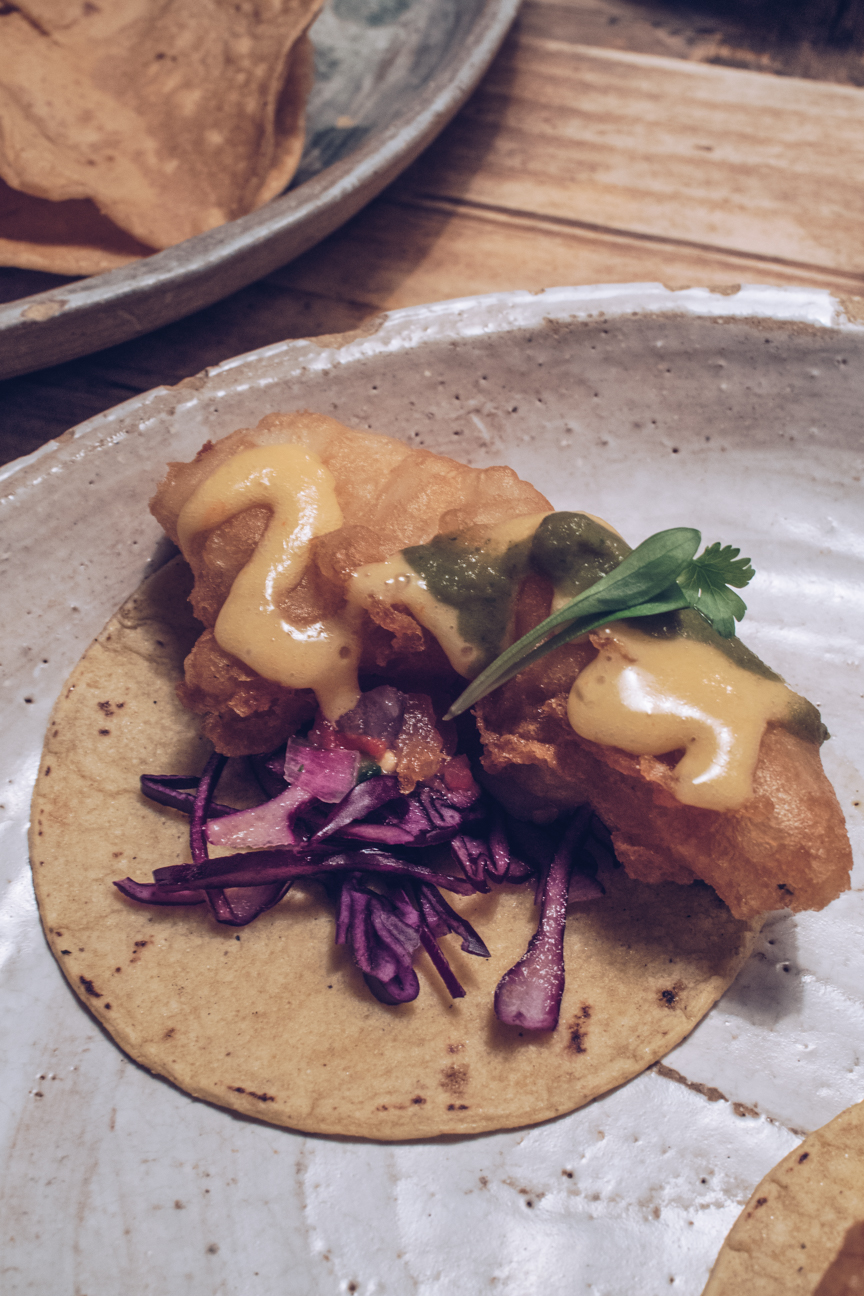 masa fried chicken taco