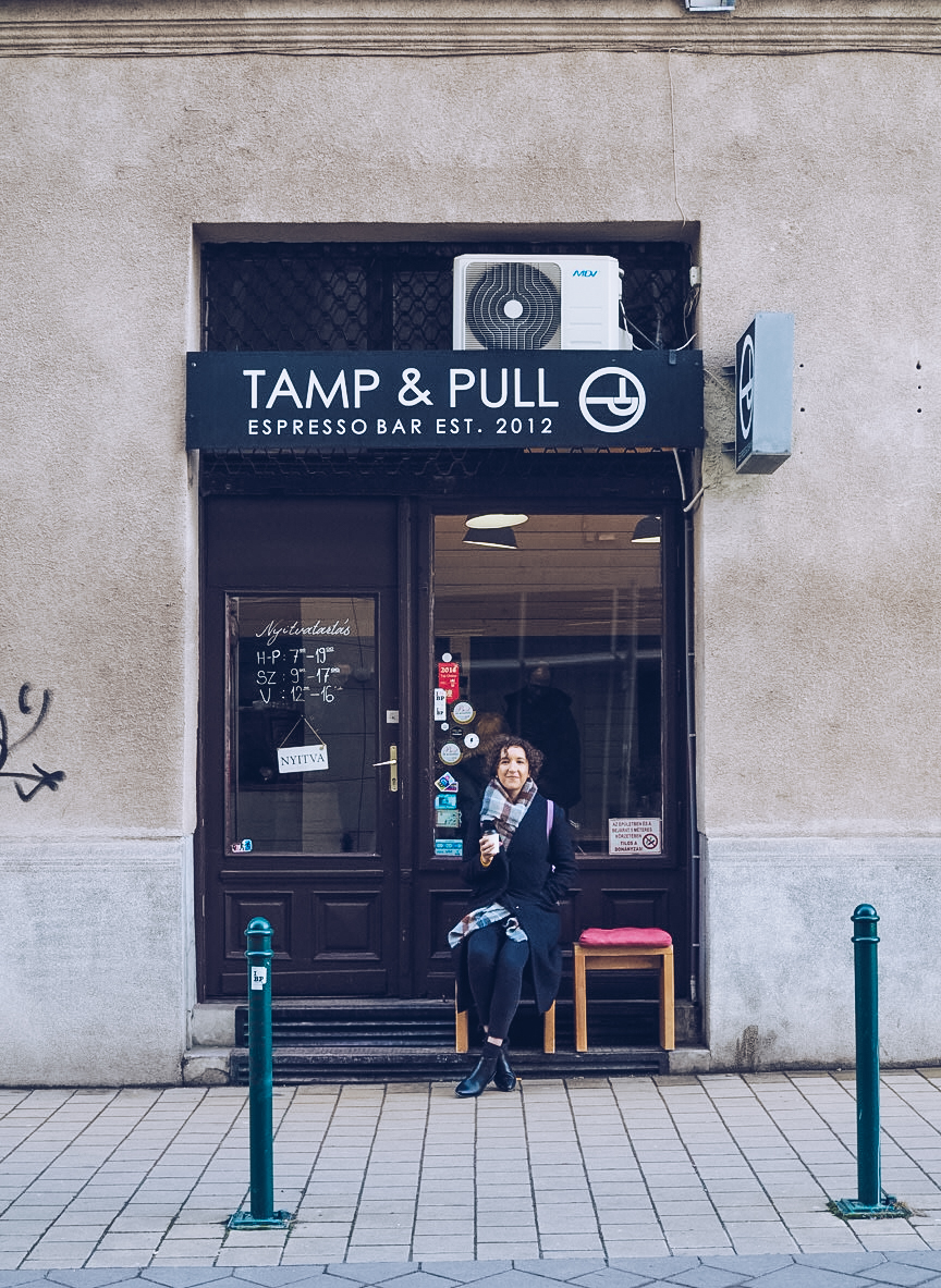 tamp and pull coffee shop in budapest