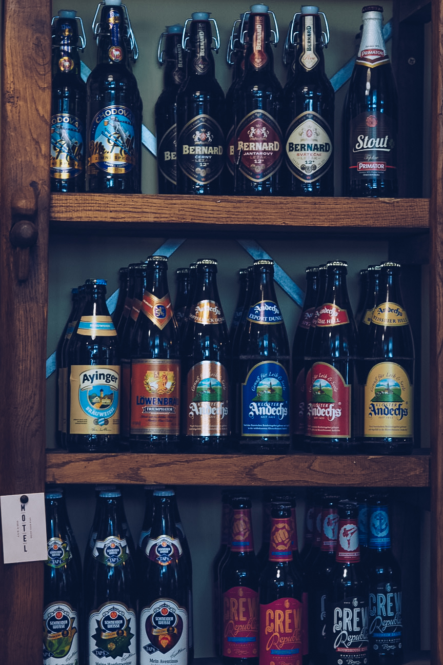 craft beers in bottles