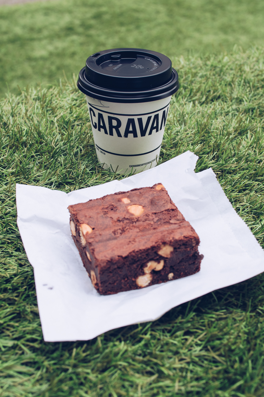 coffee and chocolate brownie