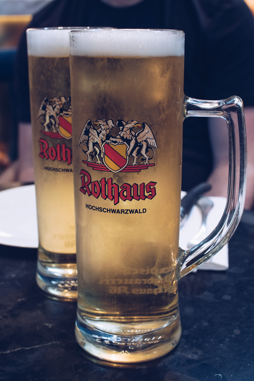 pints of german beer
