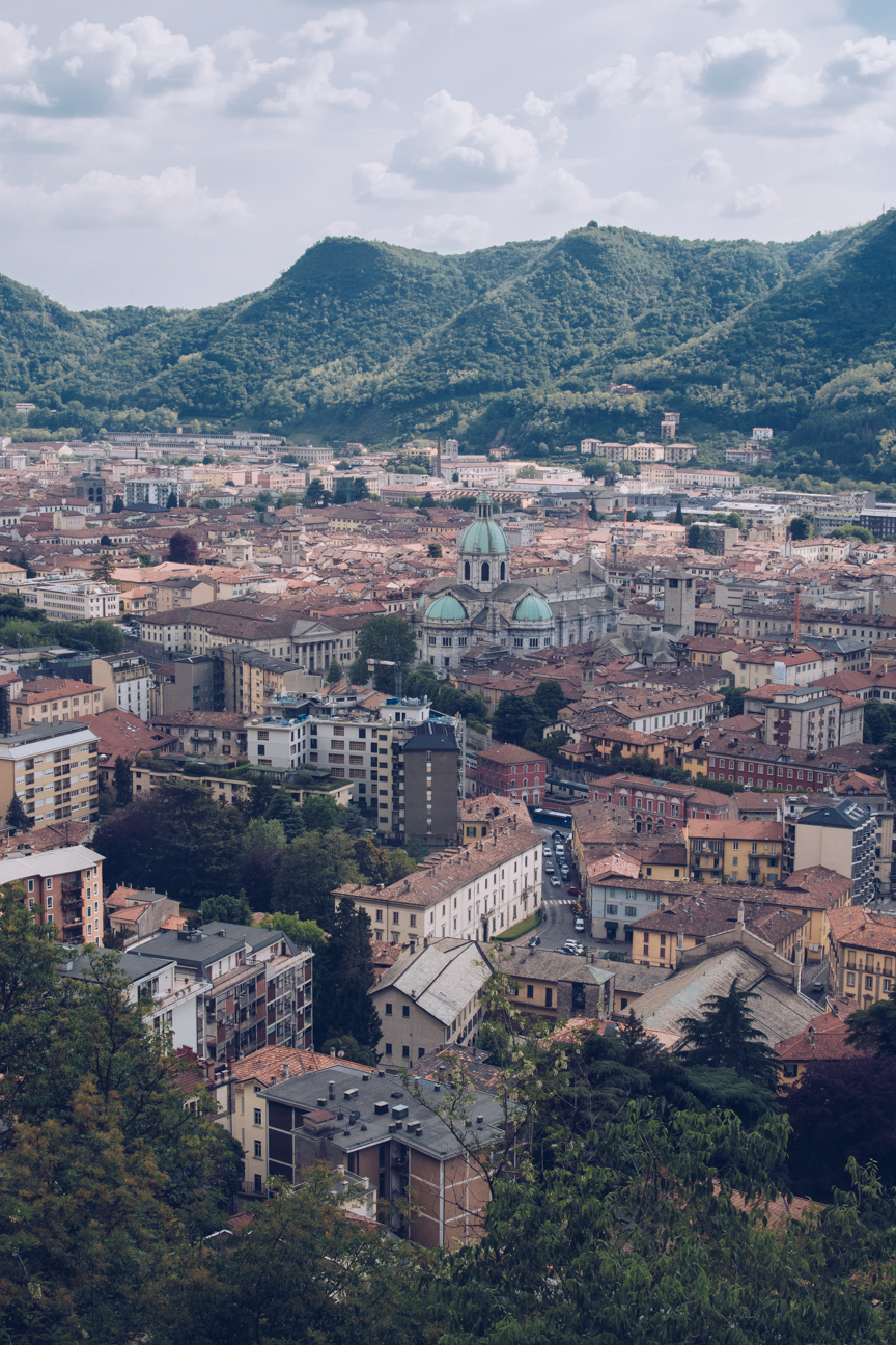 view from brunate to como