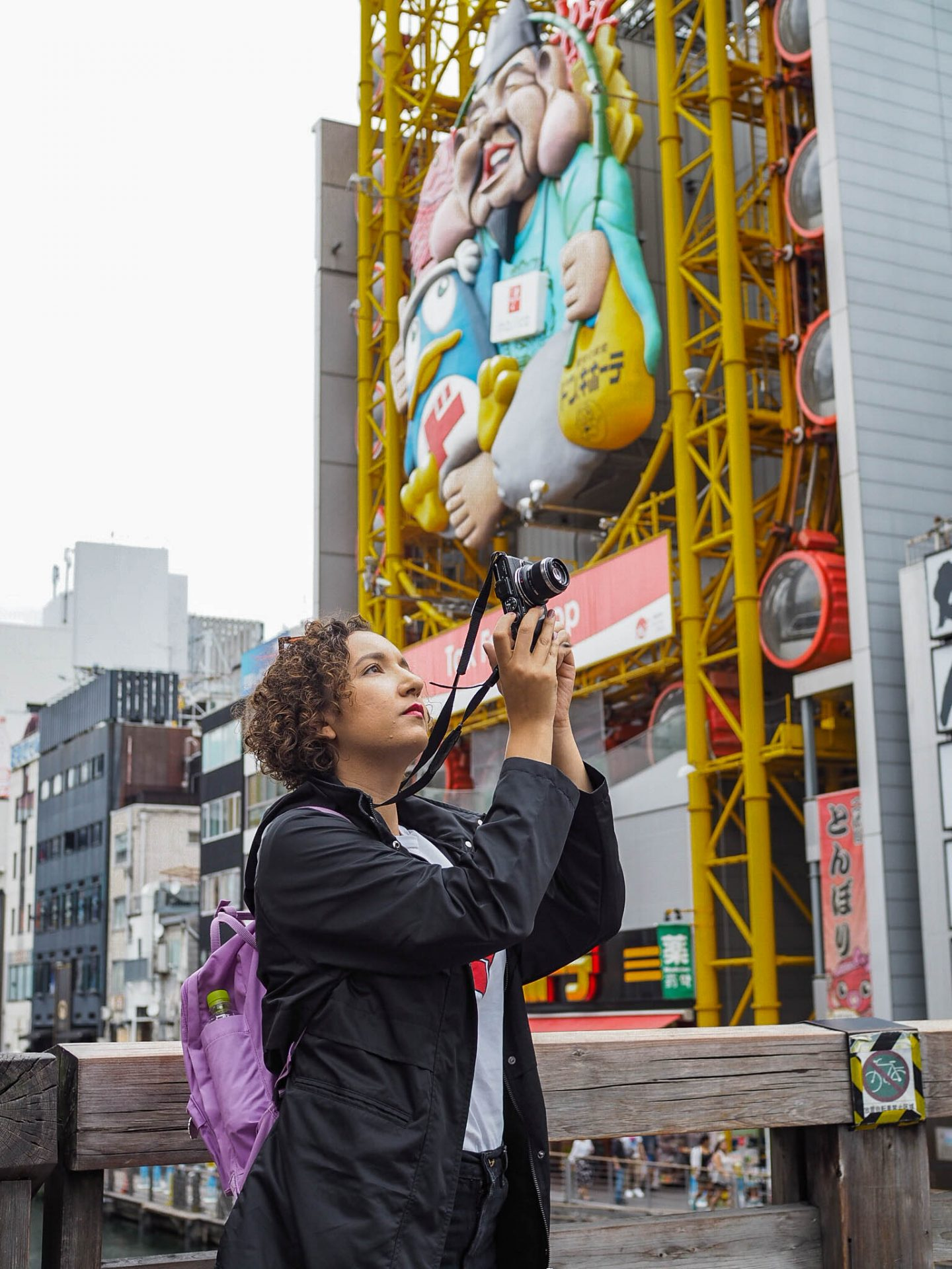 taking photos in osaka