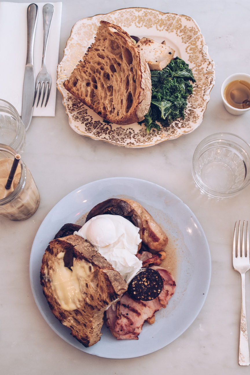 full english and vegetarian breakfast at pedler peckham