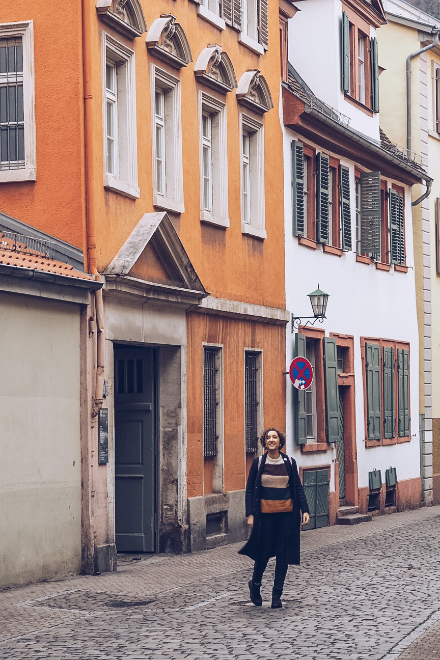 colourful streets in heidelberg