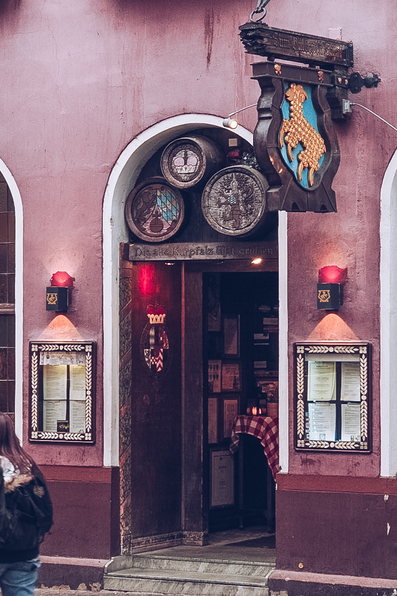 pink pub doorway