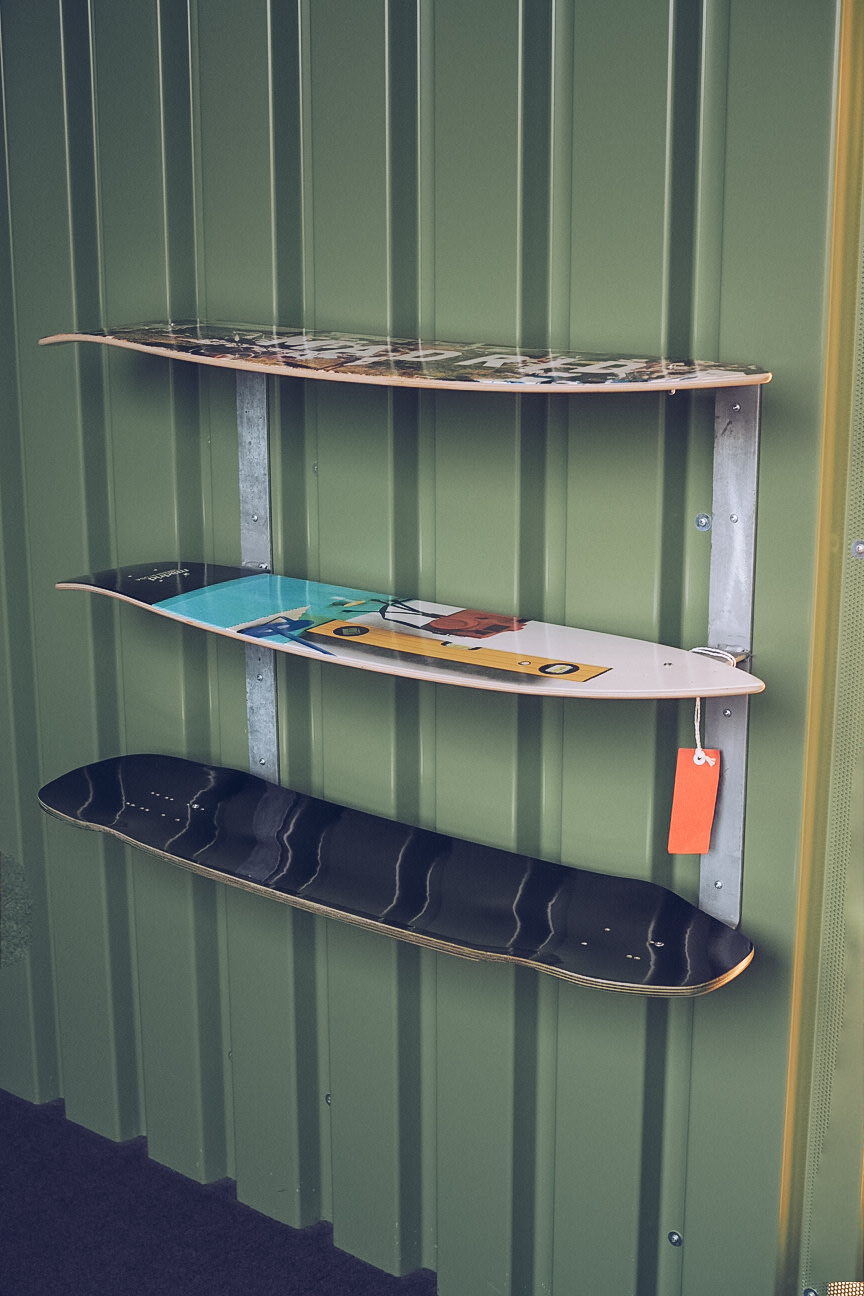 recycled longboard shelves