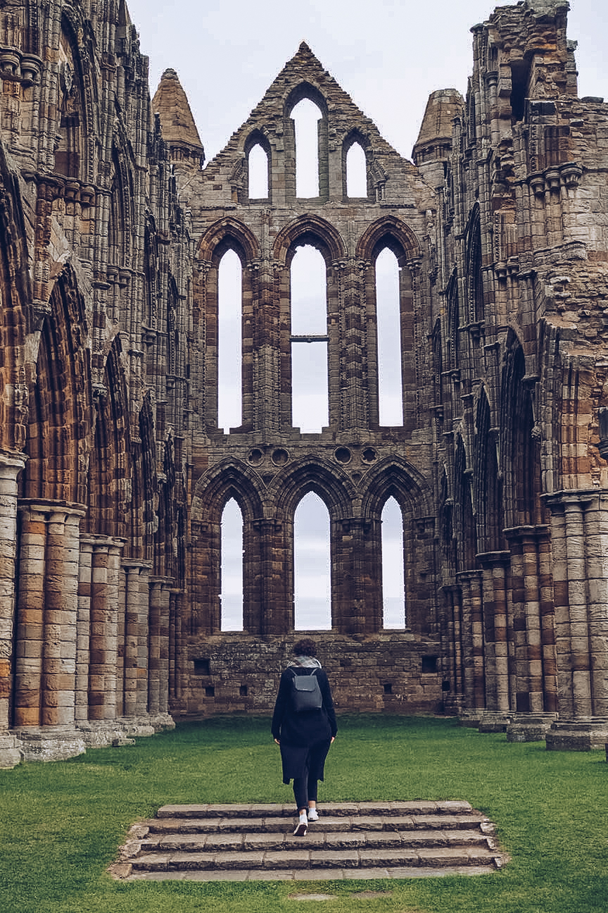 inside whitby abbey