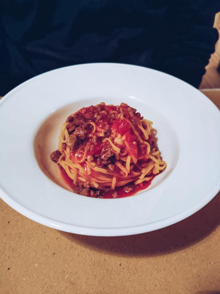 Tagliolini with sausage ragu