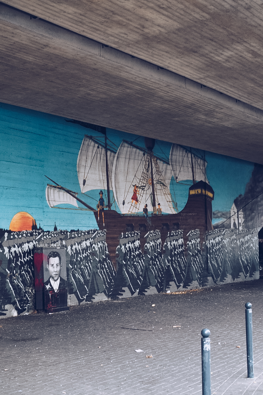 edelweiss pirates street art by captain borderline