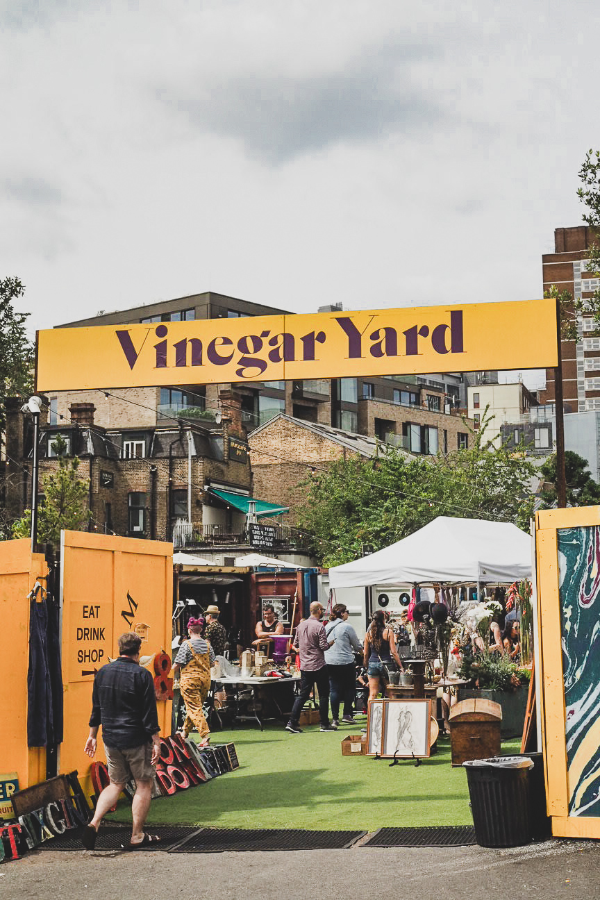entrance of vinegar yard london