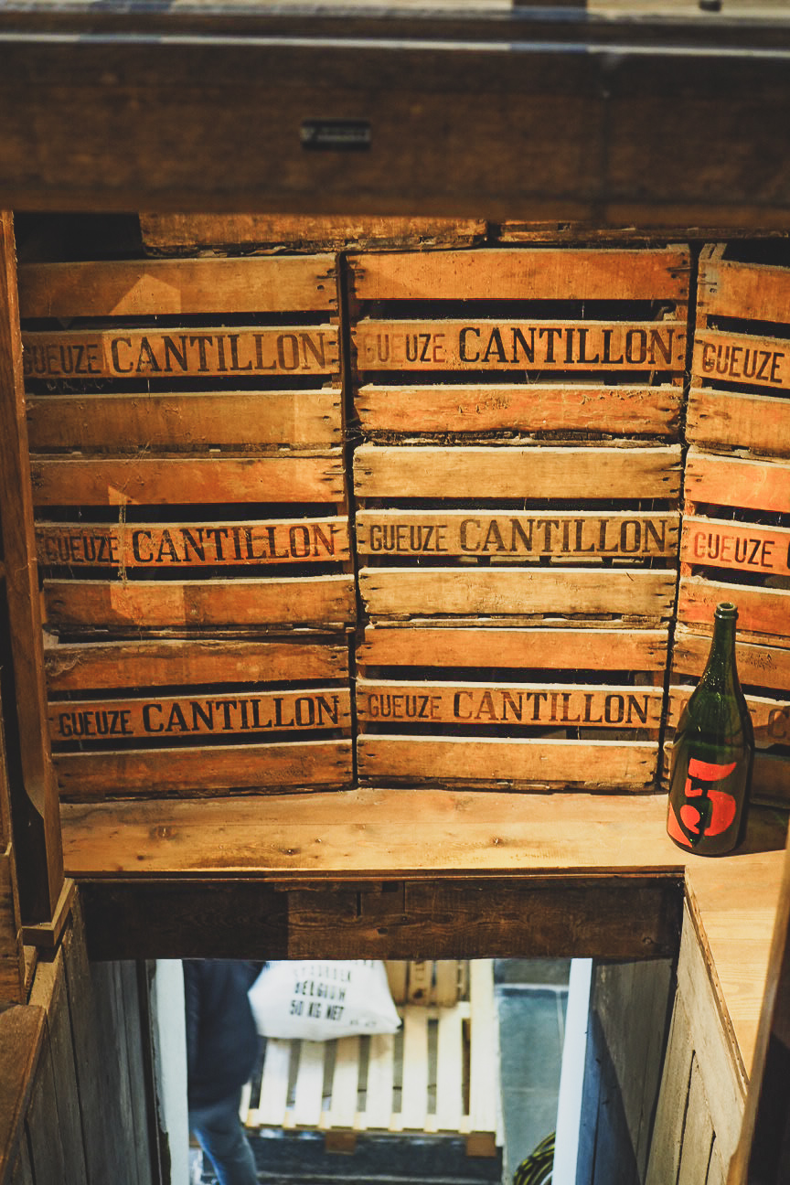 crates of cantillon beer
