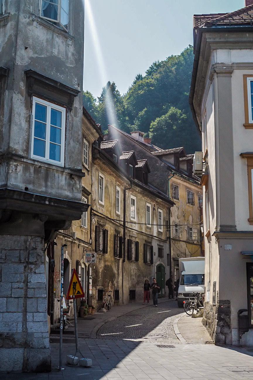 ljubljana old town streets