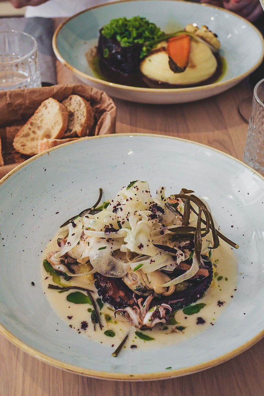 baked octopus and fennel salad