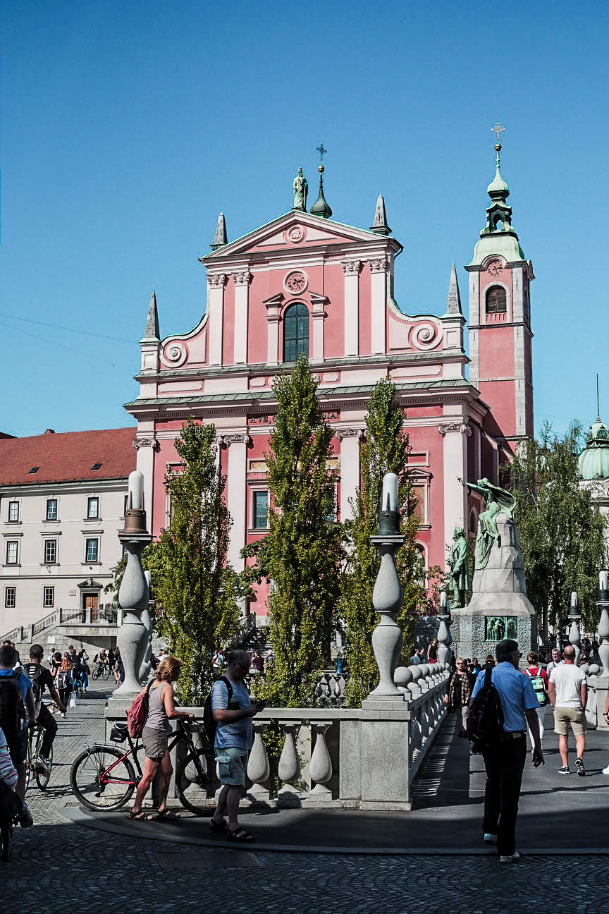 pink church ljubljana