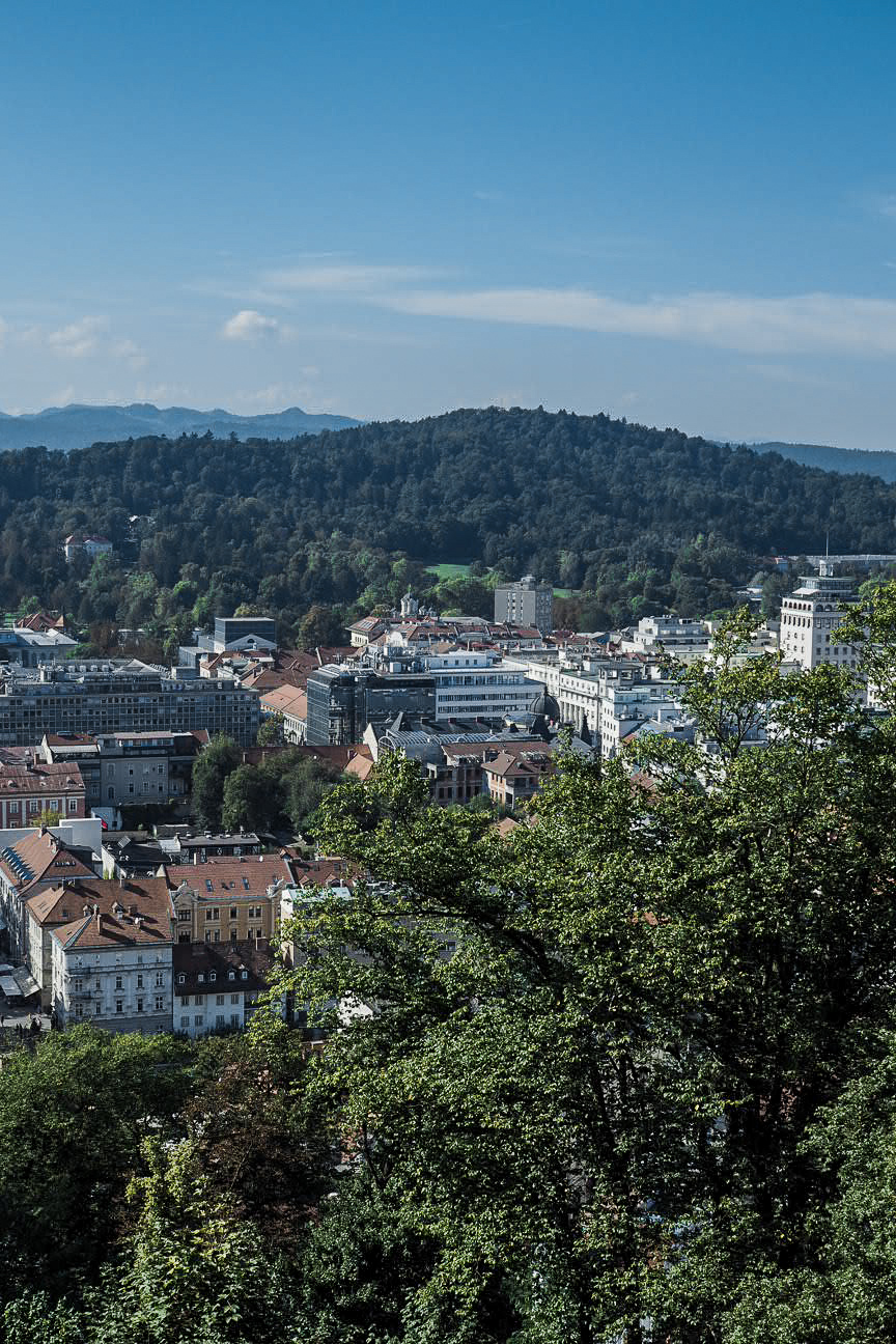 view from ljubljana castle