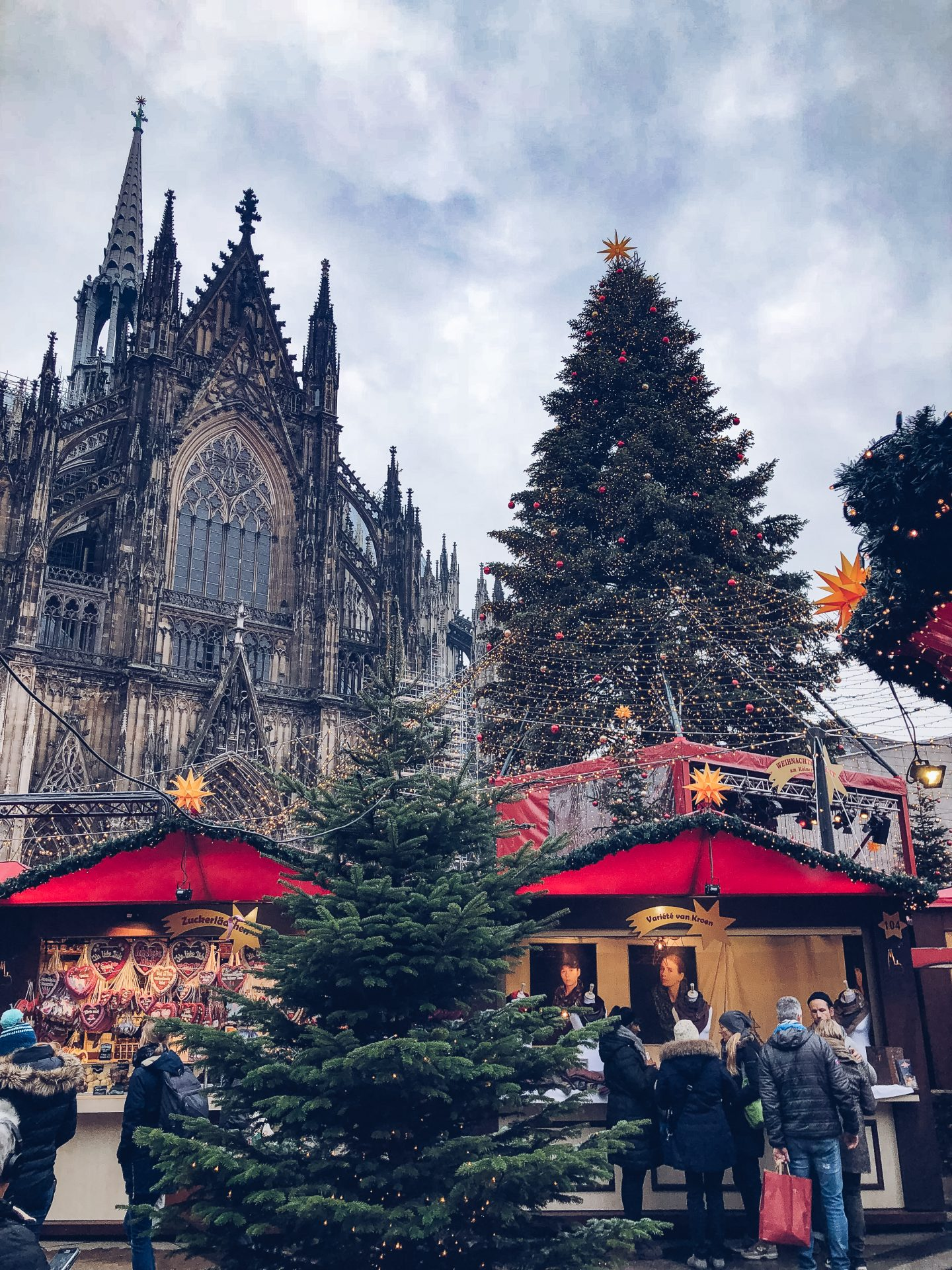 Cologne Cathedral Christmas Market during the day