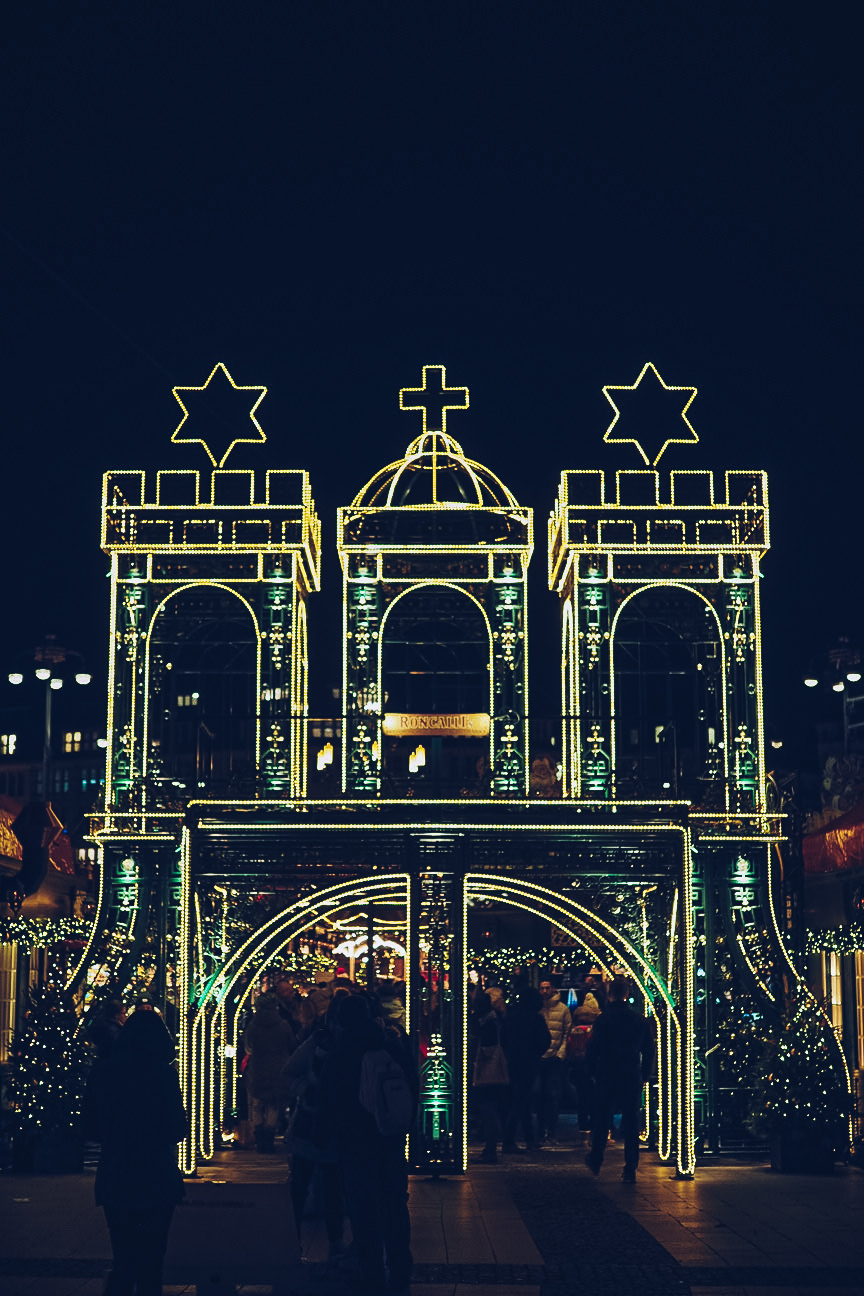Christmas Market entrance in Hamburg