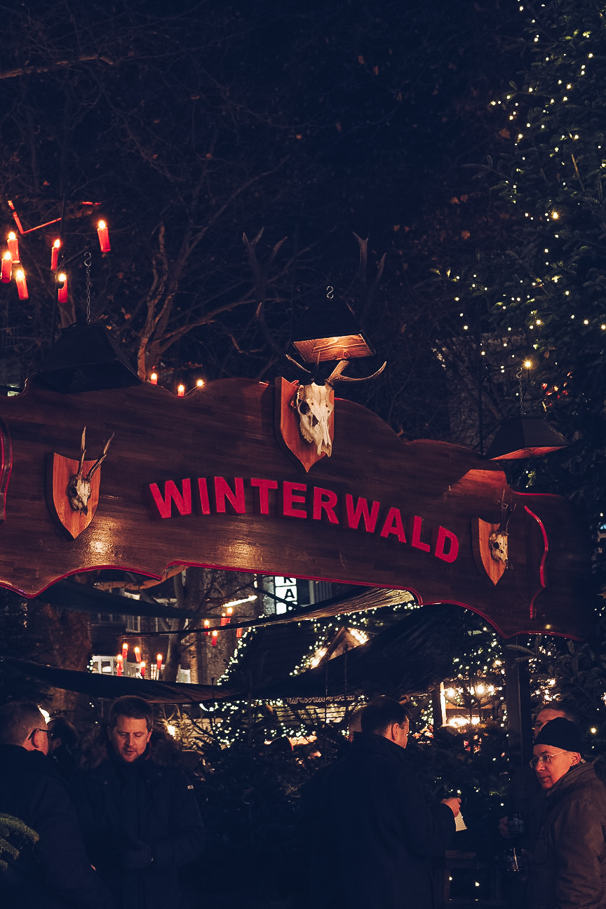 Winterwald Christmas Market in Hamburg, Germany