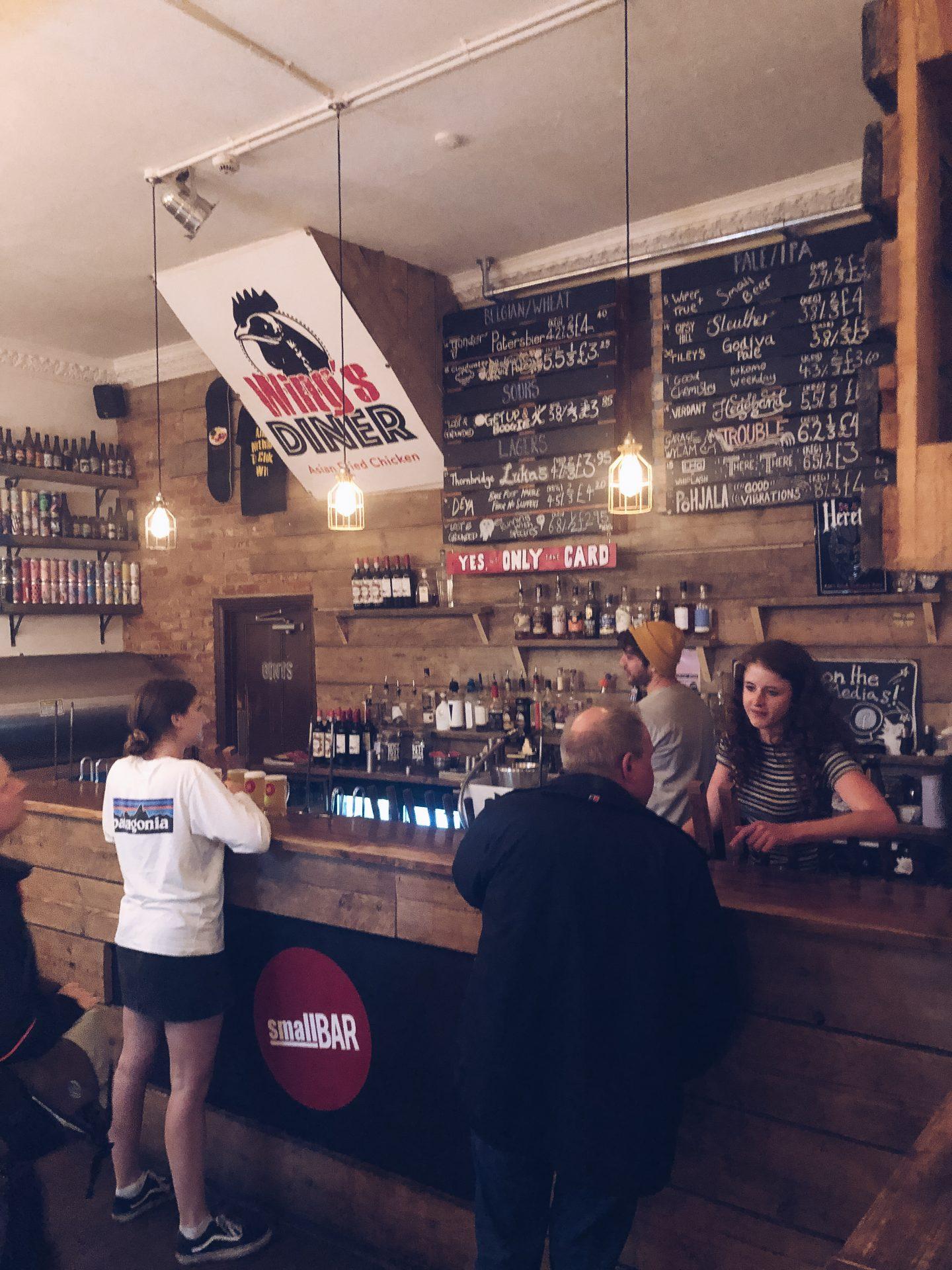 inside Small Bar, Bristol