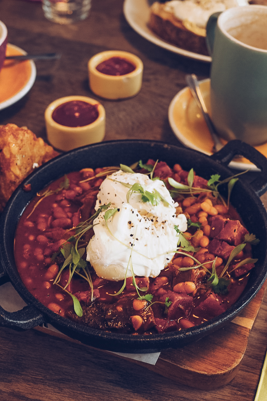 dirty beans with poached egg from bambalan bristol